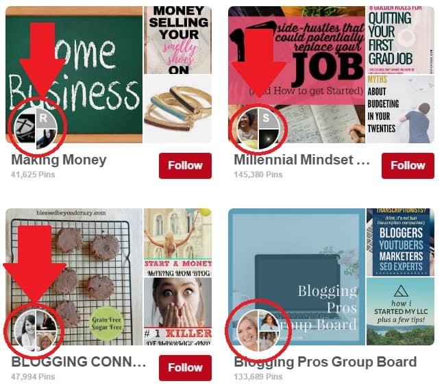 Pinterest Group boards searching other bloggers